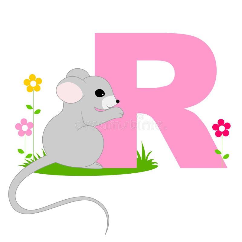 Dierlijke alfabetbrief - R