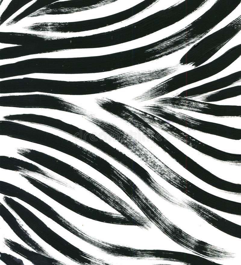Dierlijke bontachtergrond van de het bontwaterverf van de tijgerhuid de abstracte exotische getrokken achtergrond hand De illustr royalty-vrije illustratie