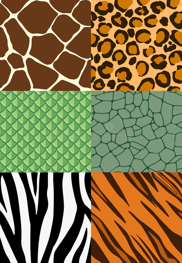 Dierlijke druk naadloze patronen vector illustratie