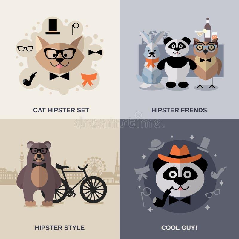 Dierlijke Hipster-Reeks vector illustratie