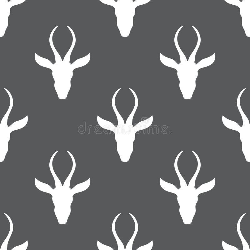 Dierlijke illustratie van de gazelle de hand getrokken vectorkrabbel, Naadloos Skandinavisch patroon, Afrikaanse safariantilope m stock illustratie