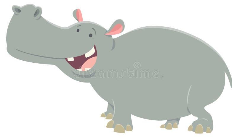 Dierlijke karakter van het beeldverhaal het vectornijlpaard stock illustratie