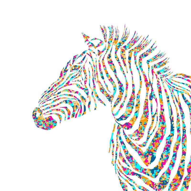 Dierlijke pazzle vormt de leuke zebra van het illustratiesilhouet EPS vector illustratie