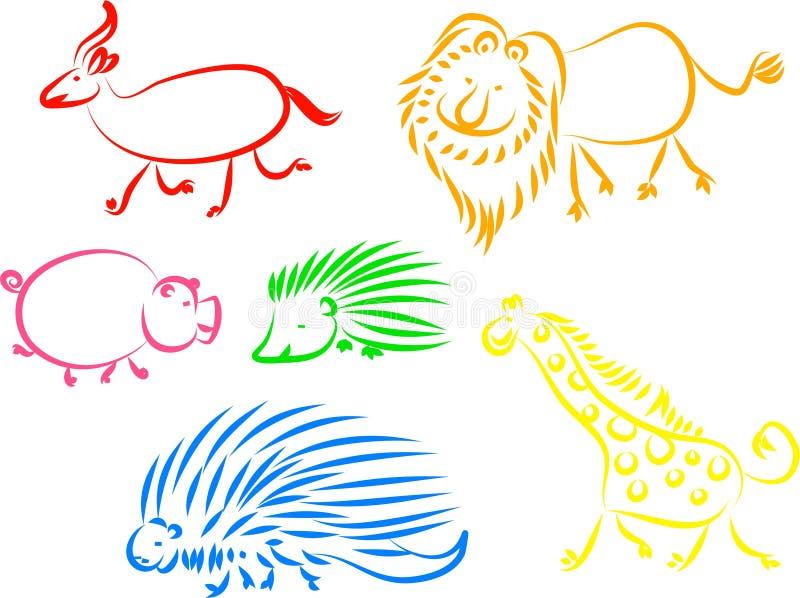 Dierlijke pictogrammen vector illustratie