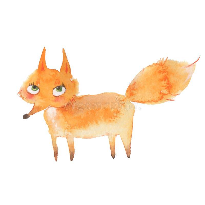 Dierlijke reeks vos royalty-vrije illustratie