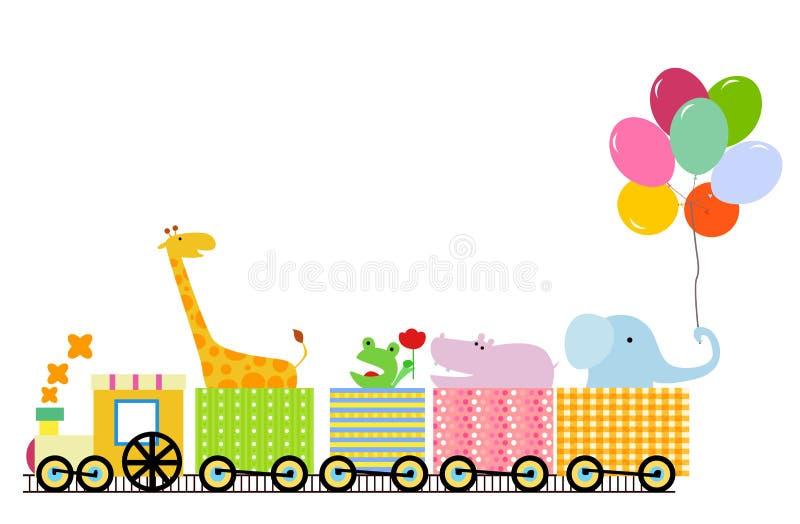 Dierlijke trein stock illustratie