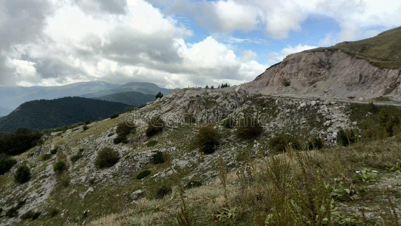 Diese Ansicht ist vom alten Berg in Bulgarien lizenzfreies stockfoto