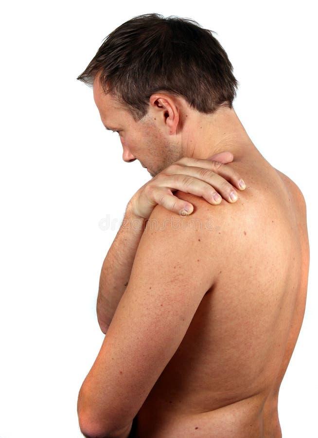 Diese Schmerz! stockbild