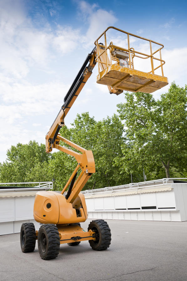 Diesel - elevador de articulação psto do crescimento imagens de stock
