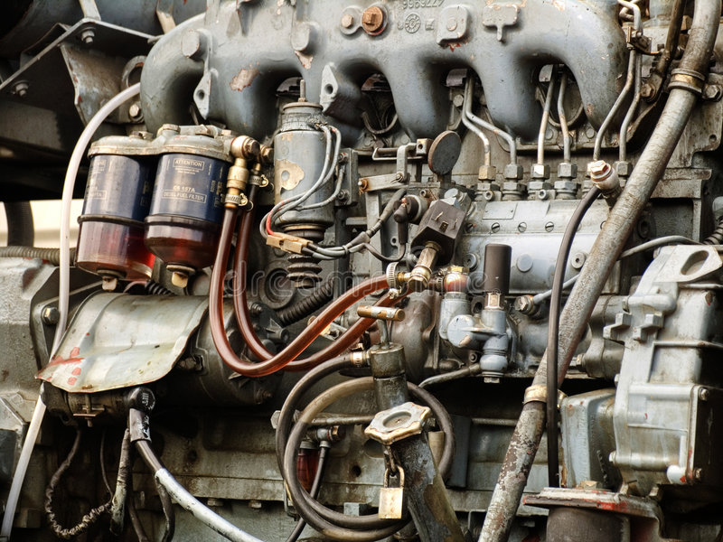 Download Diesel engine stock image. Image of aged, mechanic, parts - 4756961