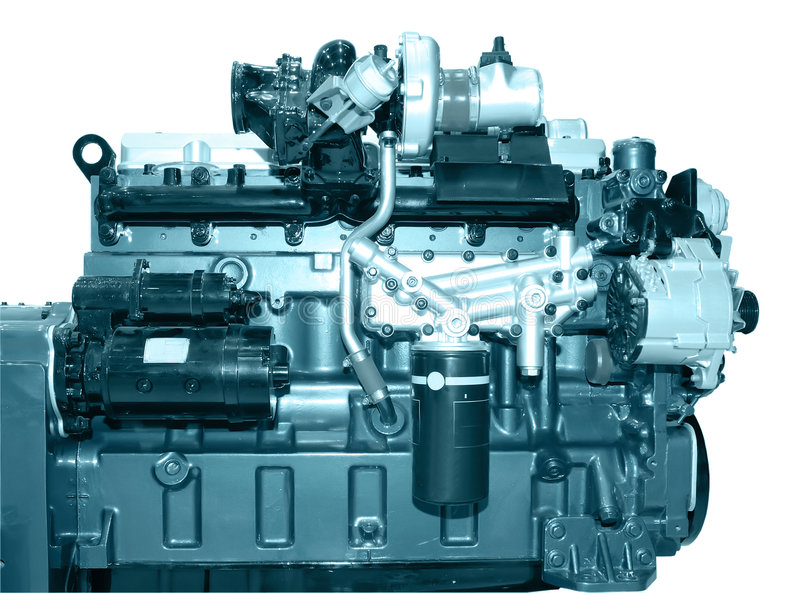 Diesel engine. The diesel engine with many details stock photography