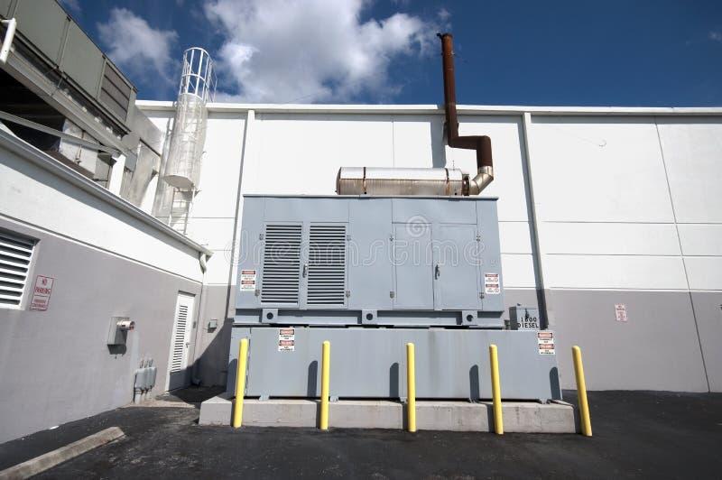 diesel- generatorenhet arkivbild
