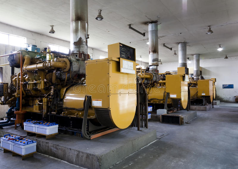 diesel- generatorer royaltyfria bilder