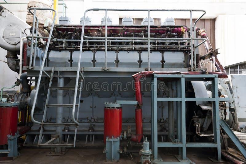 diesel- generatorstandby royaltyfria bilder