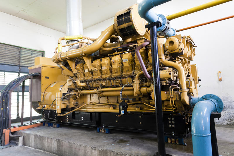 diesel- generatorstandby arkivfoton