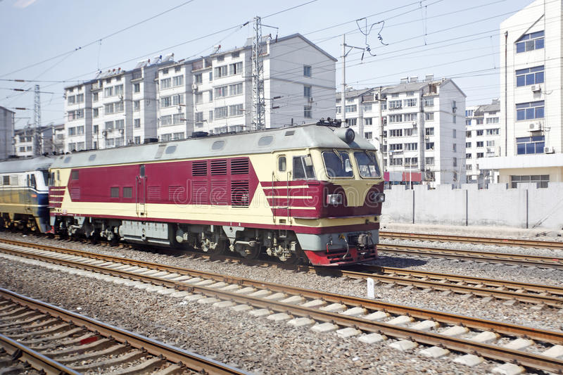 Diesel locomotive royalty free stock photo