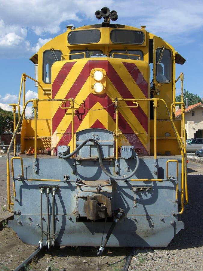 Diesel Locomotive. Photo of diesel locomotive engine in Santa Fe New Mexico stock photography