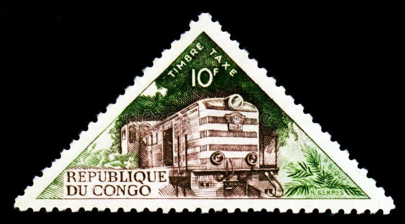 Diesel-locomotive, serie de transport, vers 1961 images libres de droits