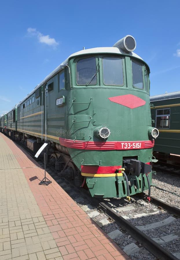 Diesel- lokomotiv TE3-5151 royaltyfria foton