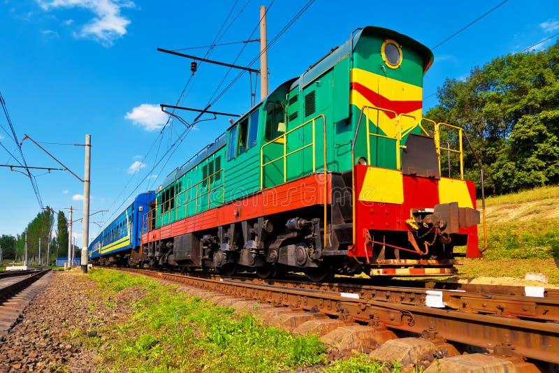 Diesel passagierstrein stock foto's