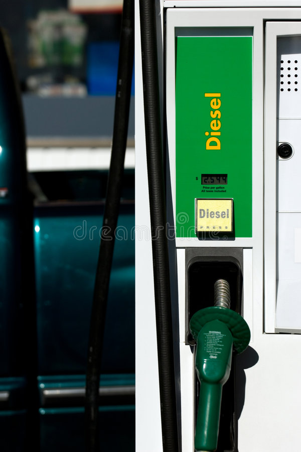 Diesel pomp stock afbeelding