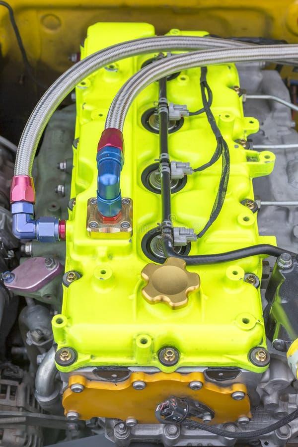 Diesel racing car engine royalty free stock image