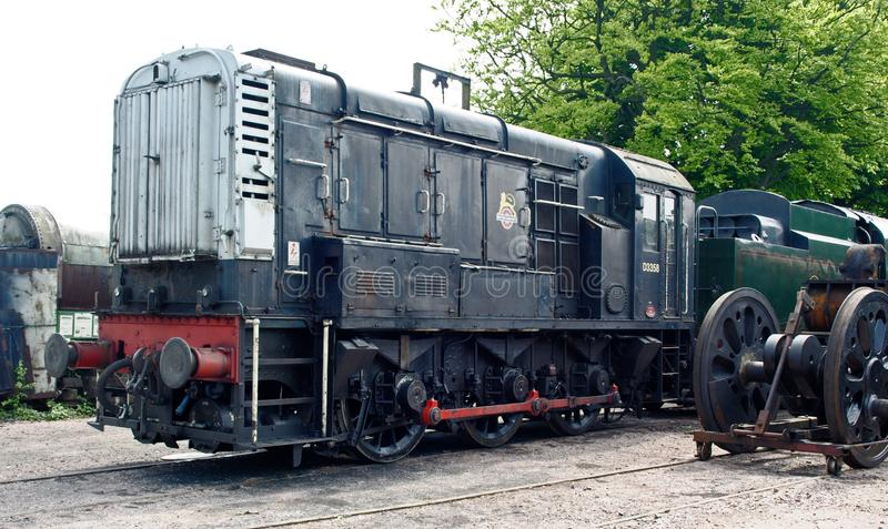 Diesel shunting engine on Watercress Railway. At Ropley hampshire royalty free stock image