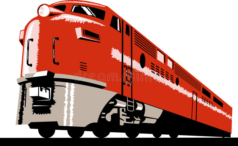 Diesel train royalty free stock photography