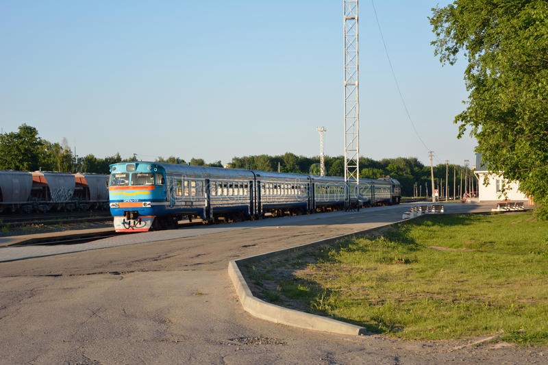 Diesel trein royalty-vrije stock foto