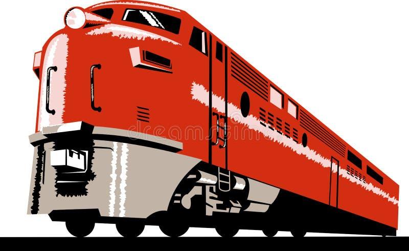 Diesel trein vector illustratie
