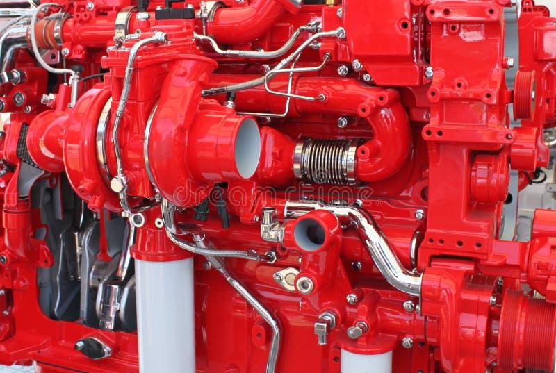 Dieselbetriebener LKW-Motor lizenzfreies stockfoto