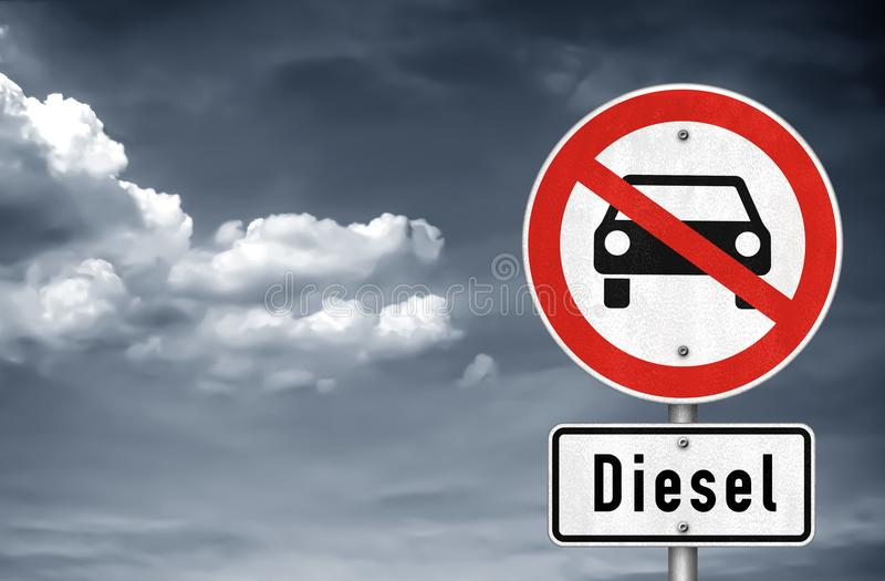 Dieselgate fotografie stock