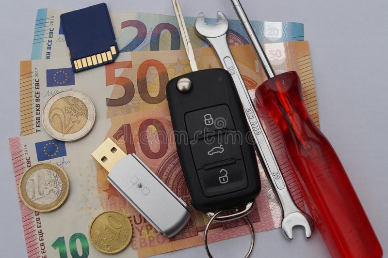 Dieselgate - costi di mantenimento automobilistici fotografia stock