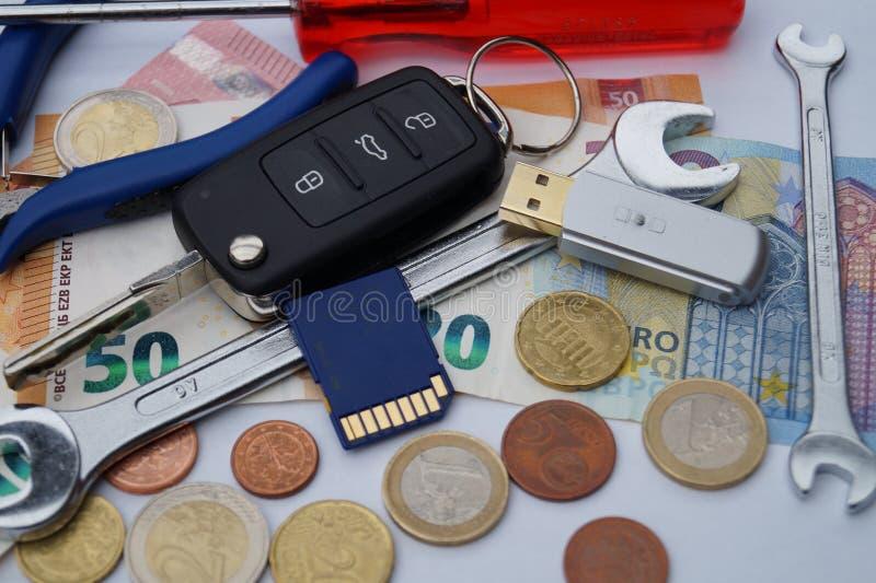 Dieselgate - costi di mantenimento automobilistici immagini stock