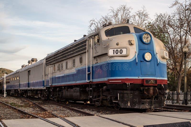 Diesellokomotive EMD F7 lizenzfreie stockbilder