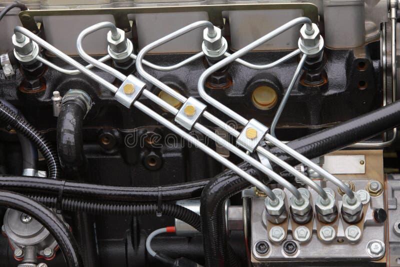 Dieselmotordetalj arkivfoton
