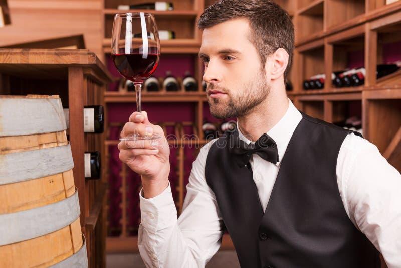 Dieser Wein ist gerade perfekt lizenzfreies stockfoto