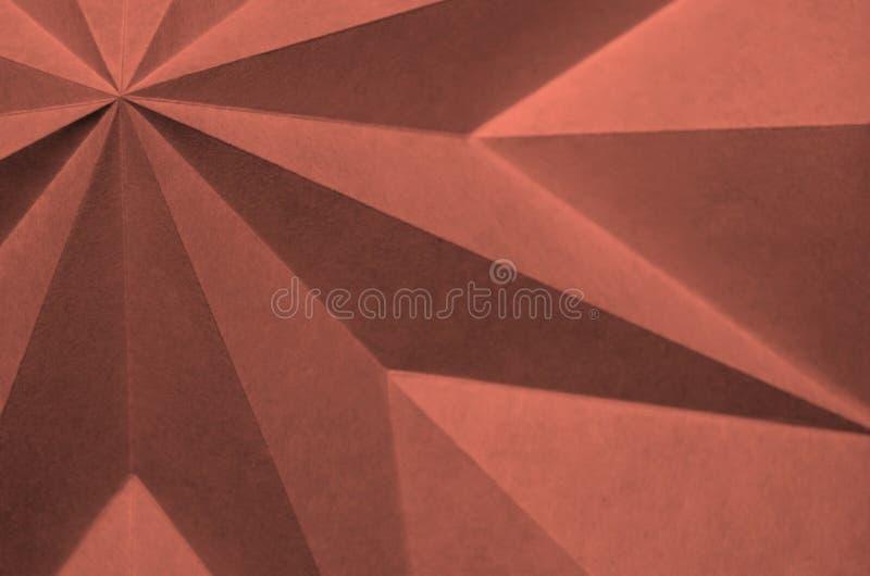 Dieses Bild ist ein Abschluss oben des gefalteten Papiers stockbilder