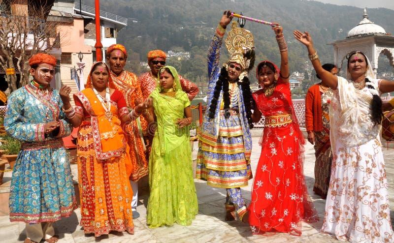 Lord Krishna u. Radha lizenzfreies stockfoto