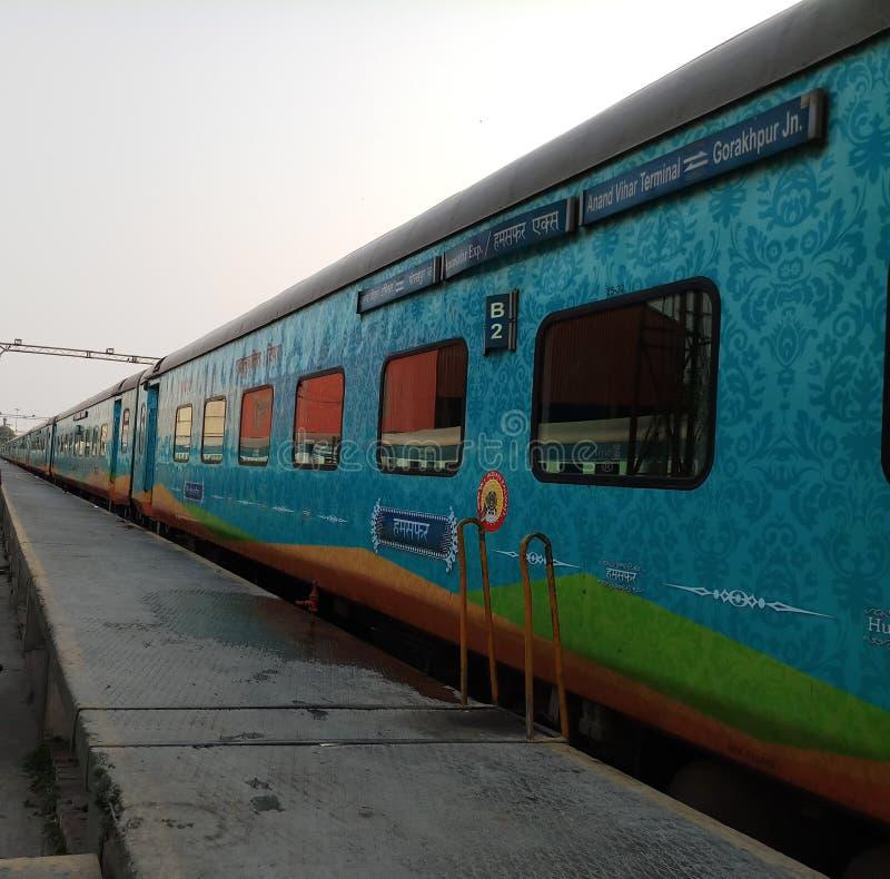 Dieses fotografiert ist natürliche ursprüngliche Fotografien der indischen Eisenbahnen lizenzfreie stockfotografie