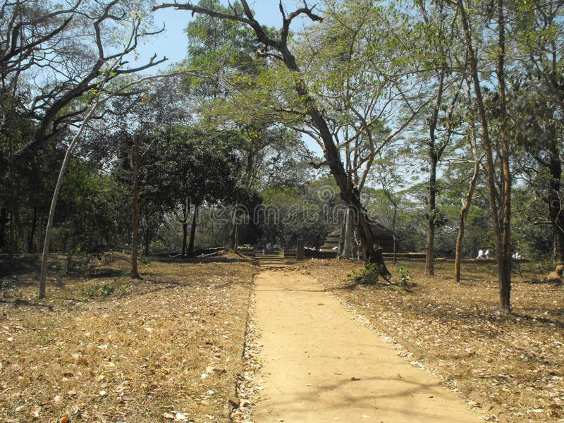 DIESES IST BILD-SCHÖNE KÖNIGE PALACE OF SRI LANKA stockfoto
