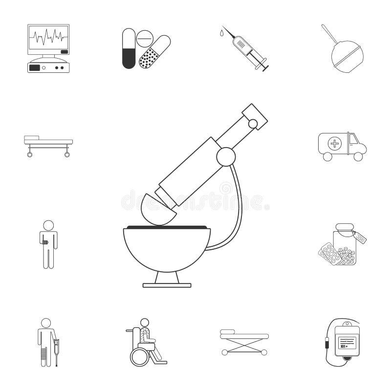 Dieses ist Datei des Formats EPS10 Einfache Elementillustration Mikroskopsymboldesign vom medizinischen Sammlungssatz Kann für Ne vektor abbildung