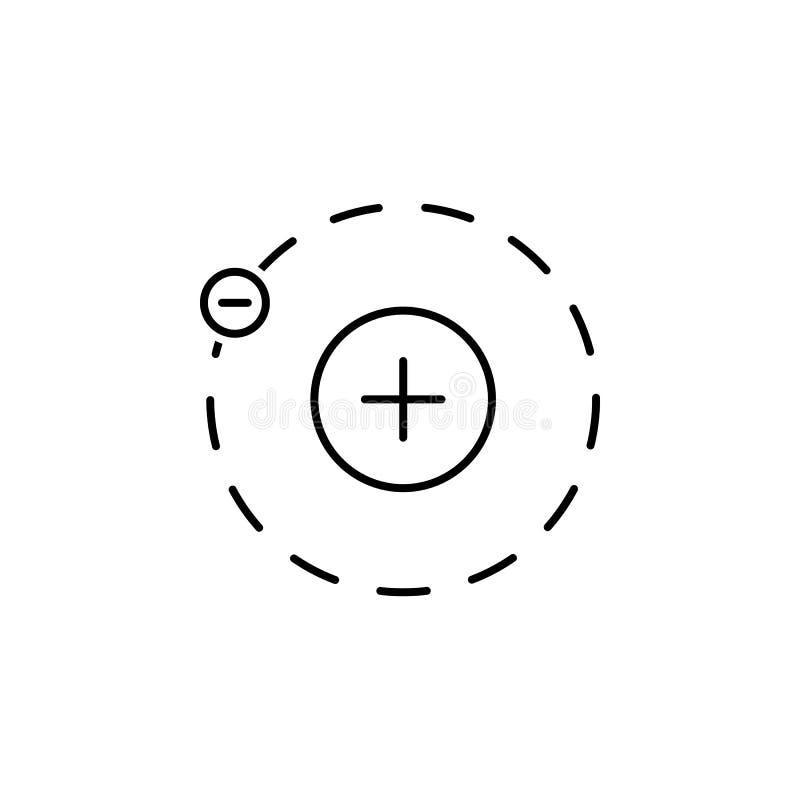 Dieses ist Datei des Formats EPS10 Element der Wissenschaftsillustration Dünnes Zeilendarstellung für Websitedesign und Entwicklu vektor abbildung