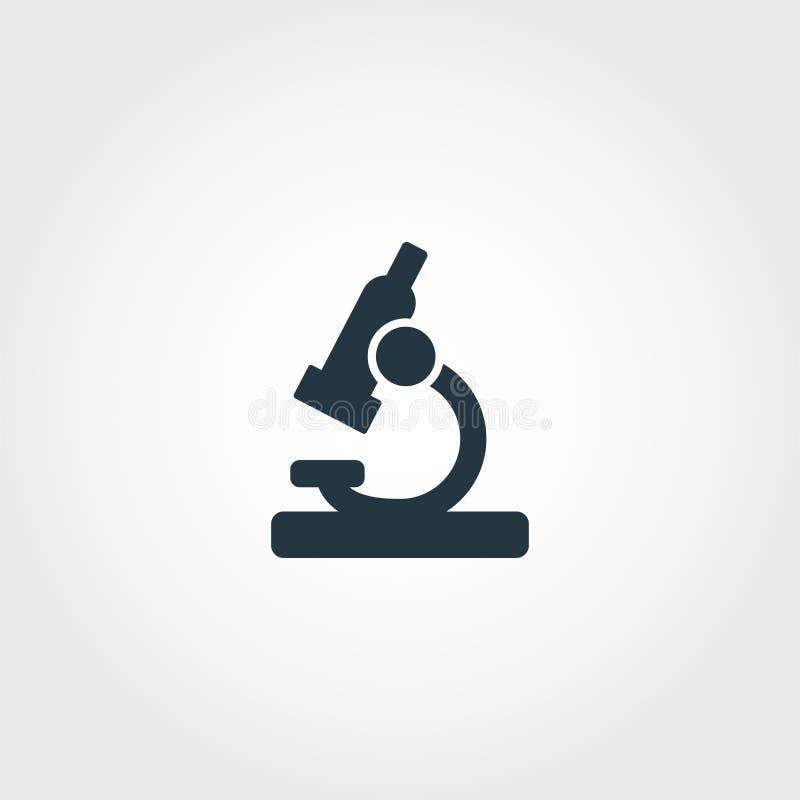 Dieses ist Datei des Formats EPS10 Erstklassiger einfarbiger Entwurf von der Ausbildungsikonensammlung Kreative Mikroskopikone fü stock abbildung