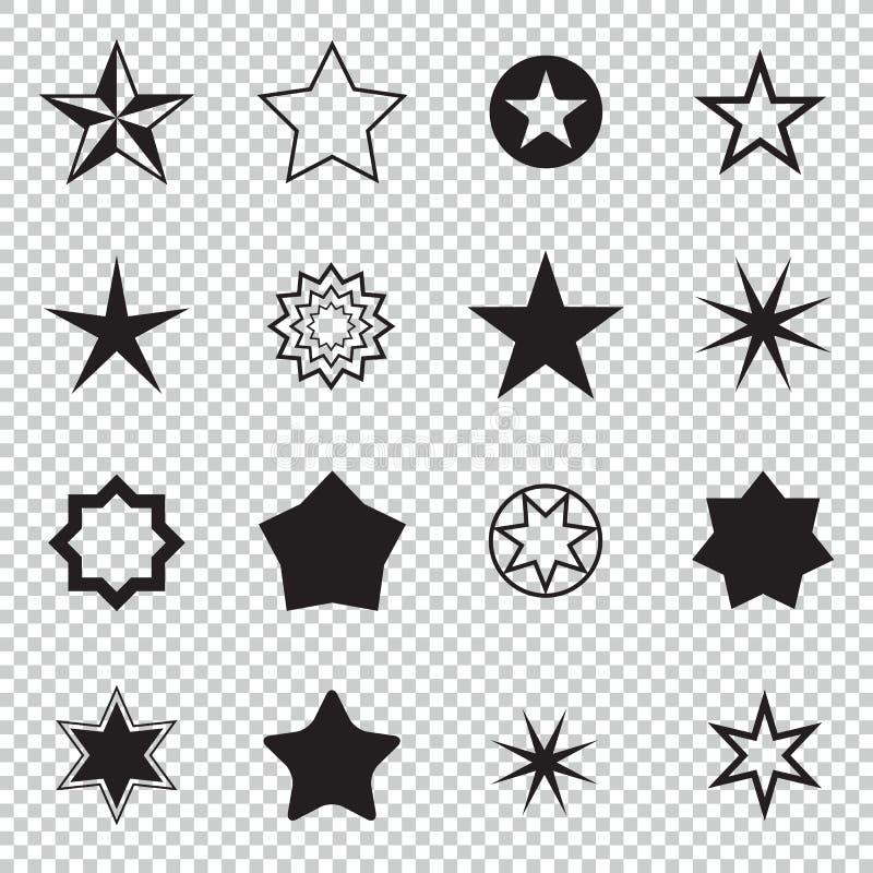 Dieses ist Datei des Formats EPS8 Gesetzte Sternikonen Konzeptbewertung, Erfolg, Preise Sammlungssternpiktogramm Farbige Sternfor lizenzfreie abbildung