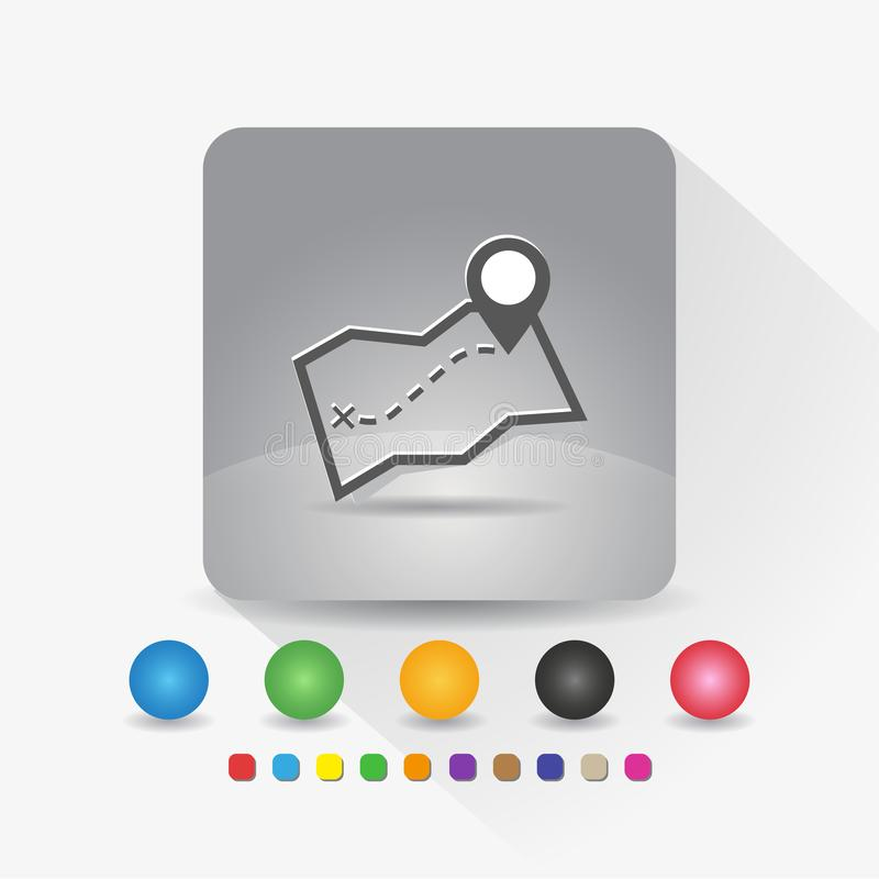 Dieses ist Datei des Formats EPS10 Zeichensymbol App in der runden Ecke der grauen quadratischen Form mit langer Schattenvektoril vektor abbildung