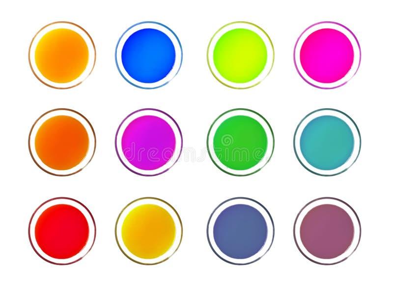 Dieses ist der Farbsirup auf Weiß lokalisiert lizenzfreies stockbild