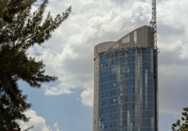 Dieses ist der Kigali-Stadt-Turm lizenzfreies stockbild
