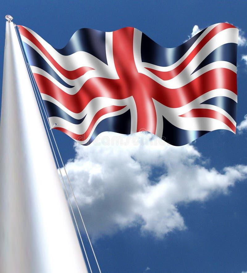 Dieses ist die Flagge, die das britische Union Jack ROTE BLAU vereinigt stockfotos