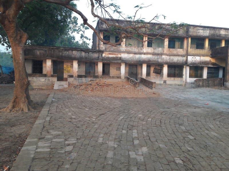 Dieses ist indische Dorfgrundschulen lizenzfreies stockbild